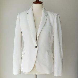 Zara Woman White Single Button Front Cardigan